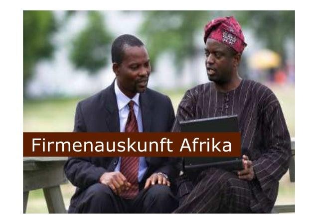 Firmenauskunft Afrika