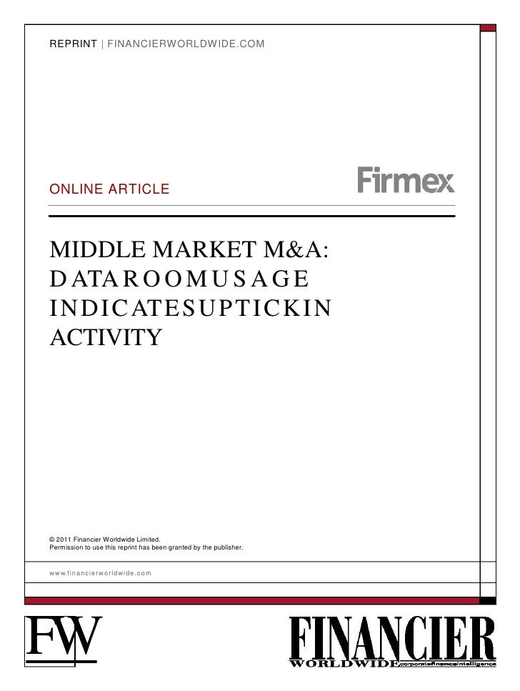 Firmex - Financier Worldwide - Middle Market Article