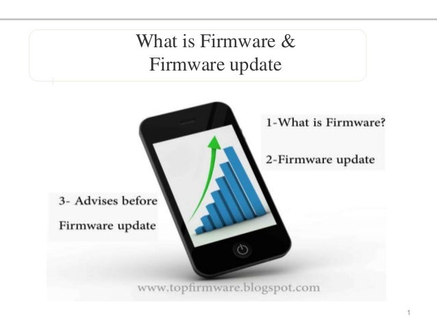 What is Firmware and Firmware update ?