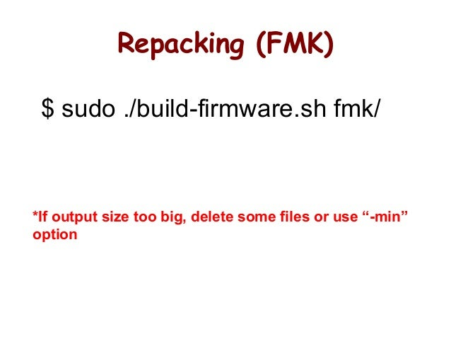 Firmware hacking, slash the pineapple for fun