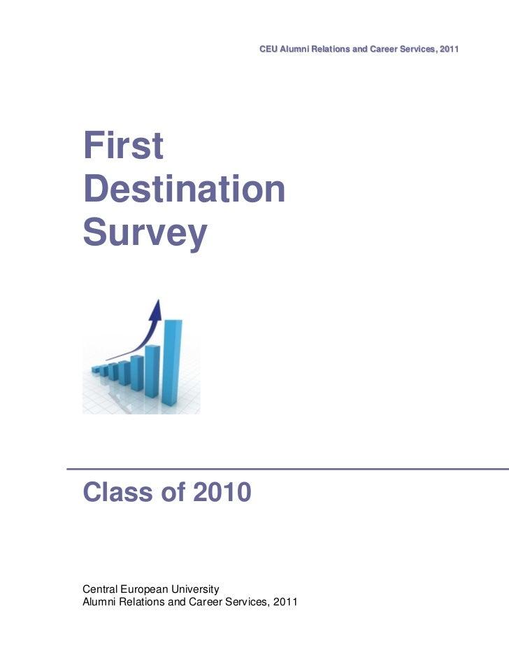 First destination-survey-class-of-2010