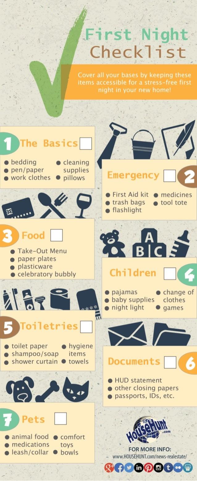 First Night Checklist