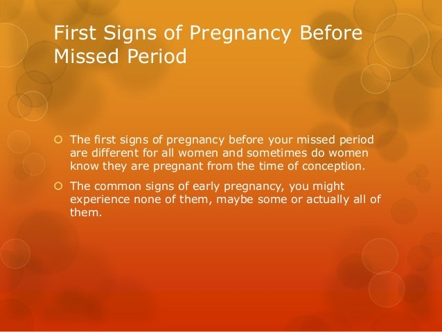 Signs of pregnancy before test