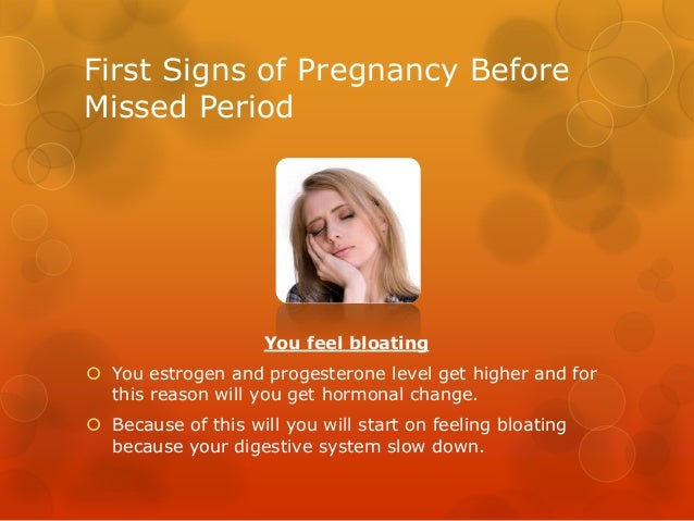 First signs of pregnancy before missed period
