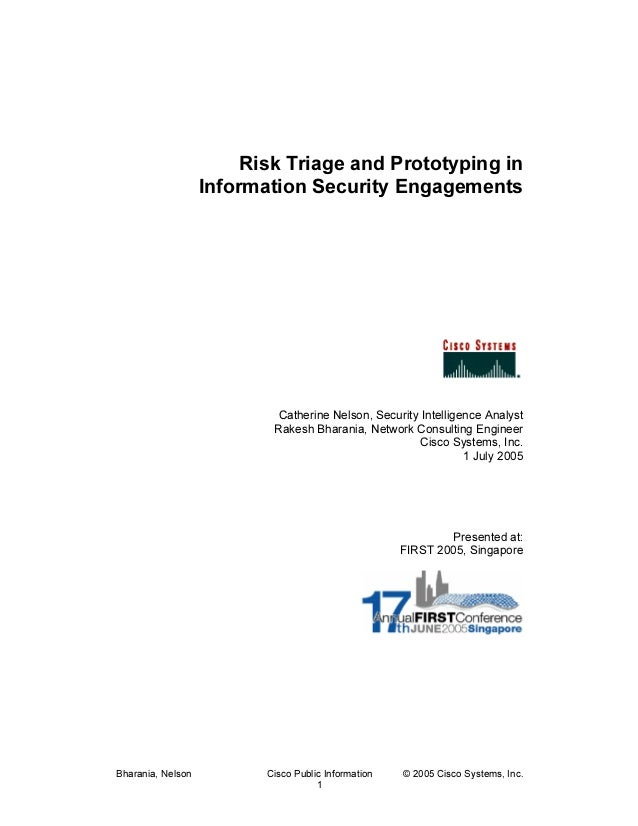 Risk Triage and Prototyping In Information Security Engagements