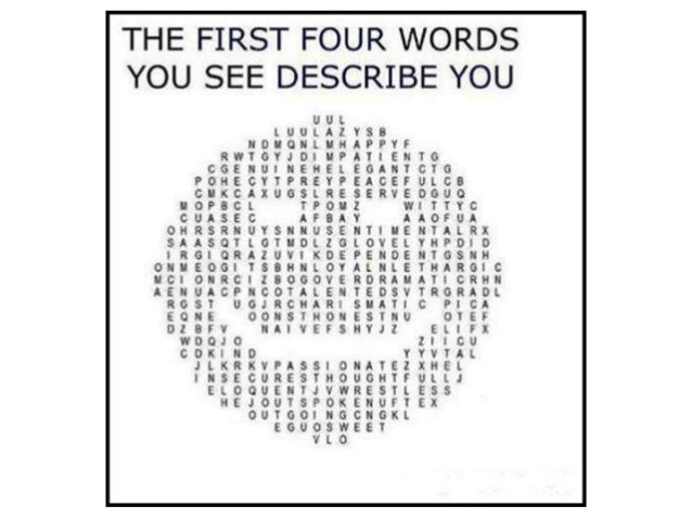 First 4 words describe u