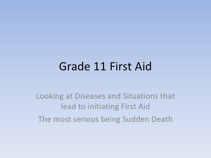 First aid presentation