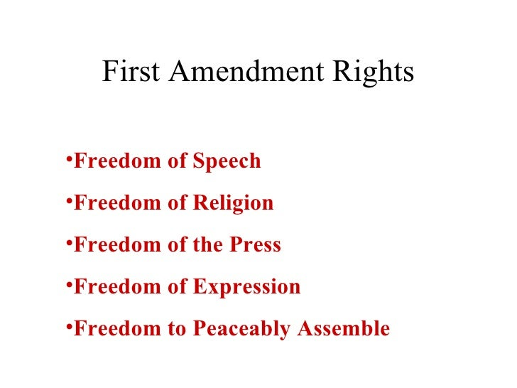 First Amendment Rights Printer Friendly