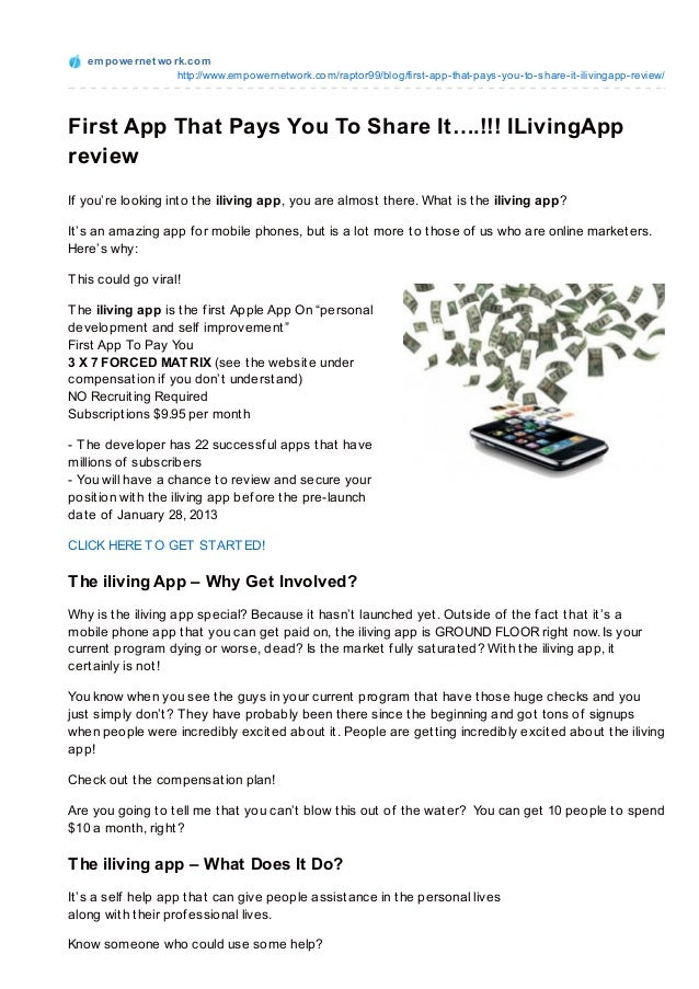 First app that_pays_you_to_share_it_i_living_app_review