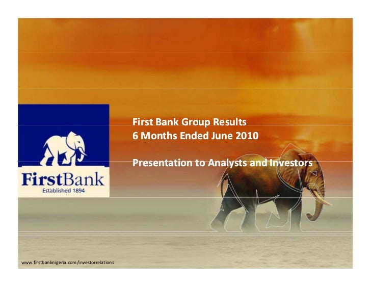 FirstBankGroupResults                                             First Bank Group Results                             ...