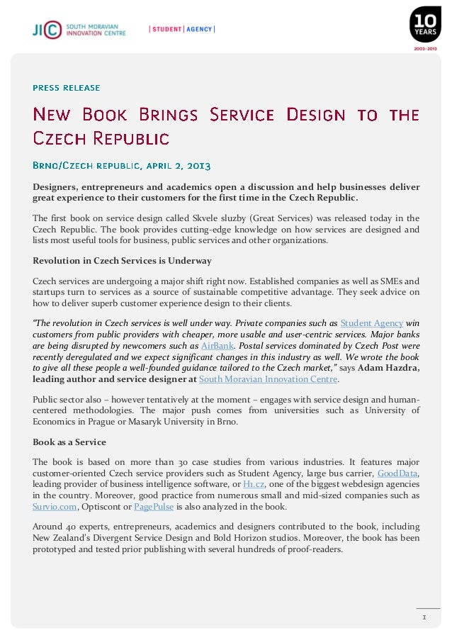 New Book Brings Service Design to the Czech Republic (Press release)