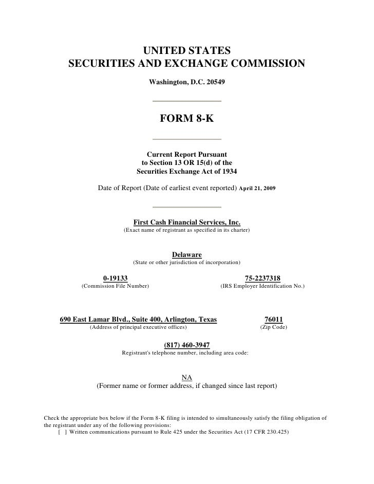 UNITED STATES           SECURITIES AND EXCHANGE COMMISSION                                            Washington, D.C. 205...