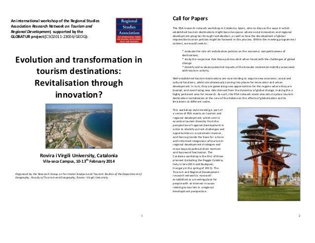 1 Evolution and transformation in tourism destinations: Revitalisation through innovation? Rovira i Virgili University, Ca...
