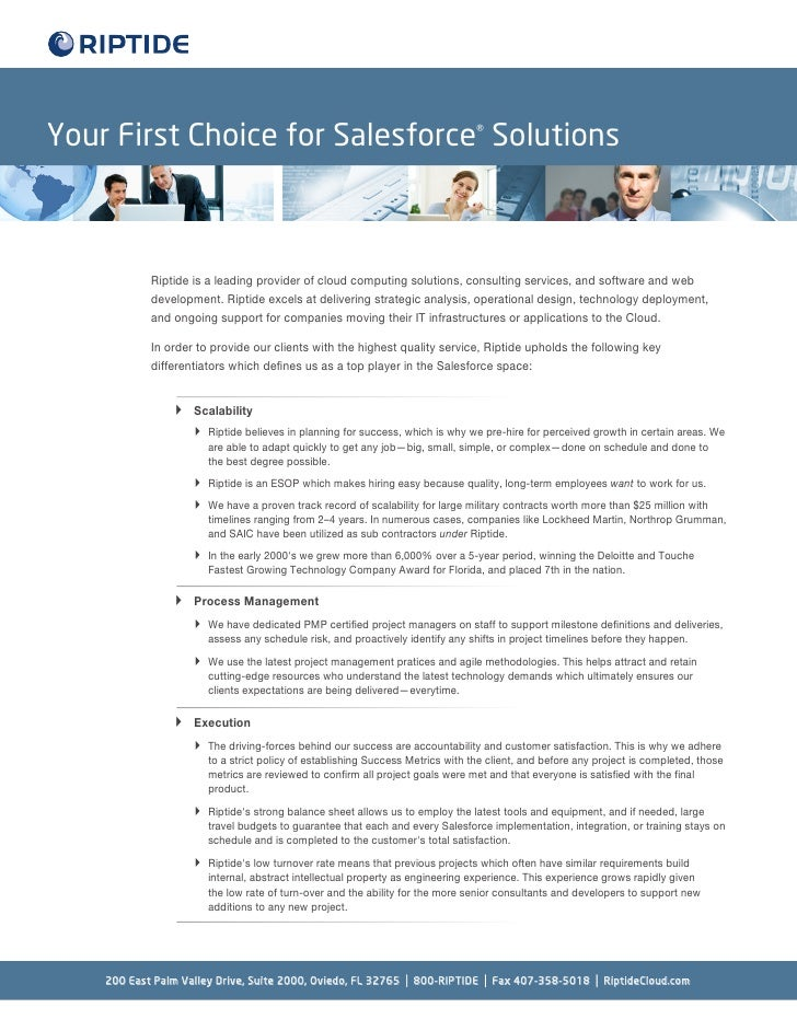 First choice salesforce solutions