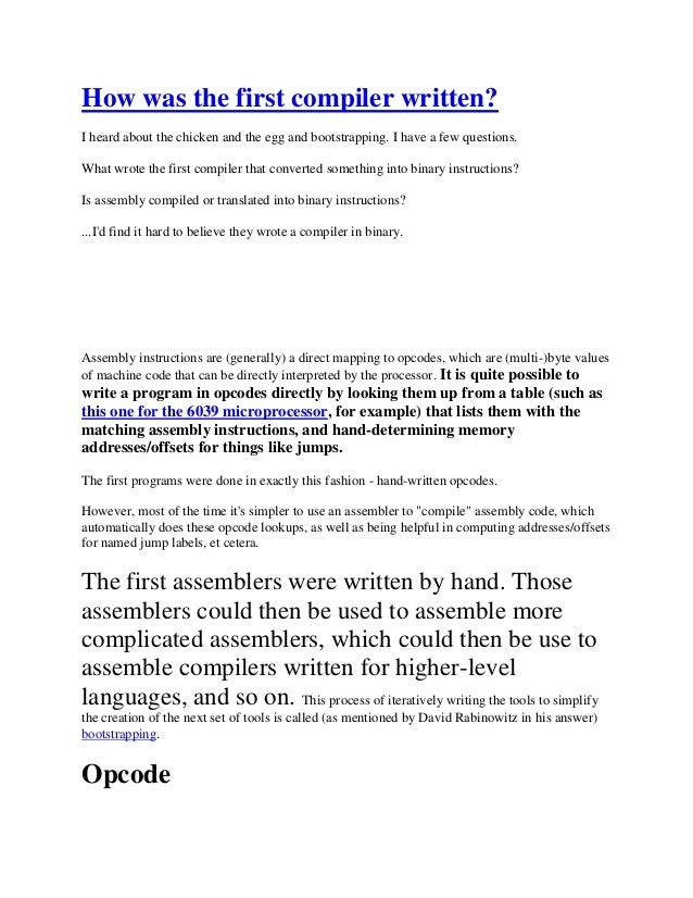 First compailer written