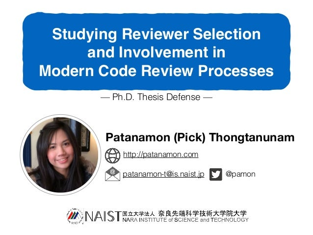 phd thesis review comments