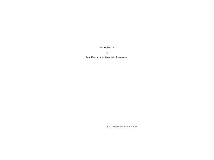 First draft of script