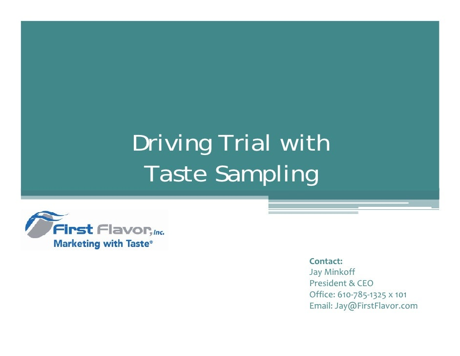 First Flavor Sales Deck 03 2010