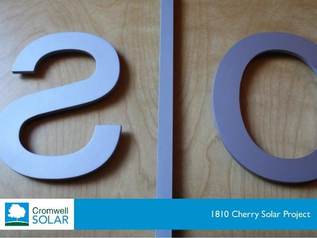 1810 Cherry Solar Project