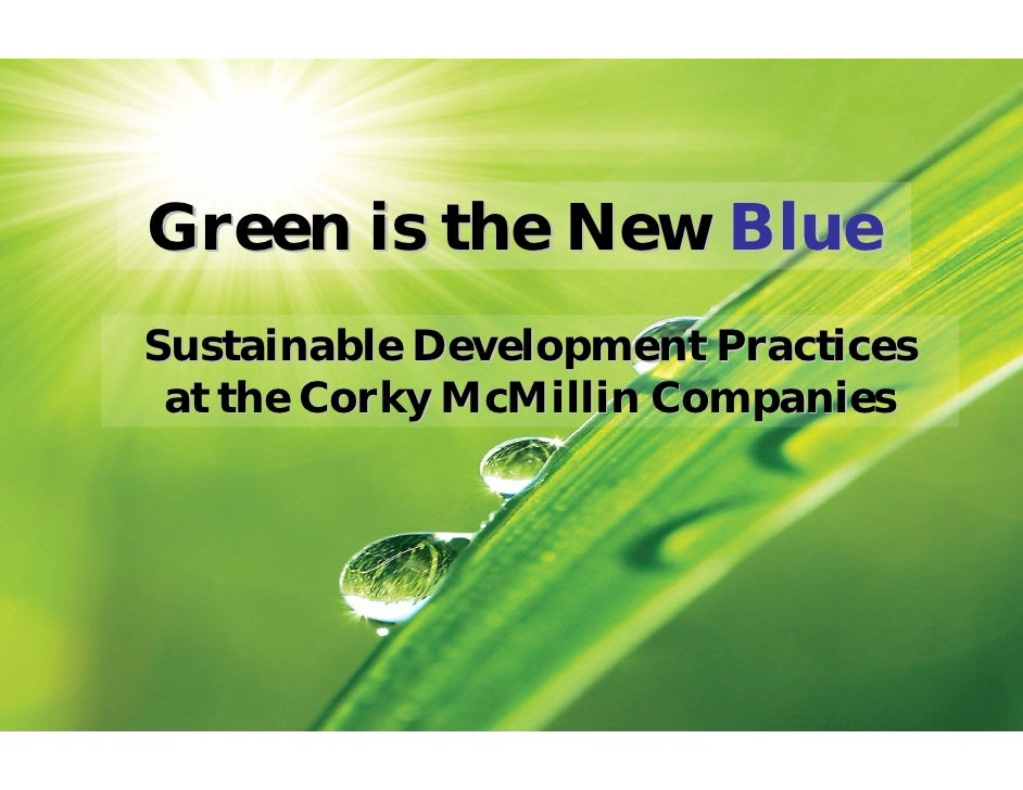 Green is the New Blue Sustainable Development Practices  at the Corky McMillin Companies
