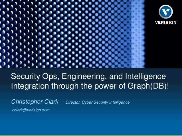 Security Ops, Engineering, and Intelligence Integration through the power of Graph(DB)! Christopher Clark - Director, Cybe...
