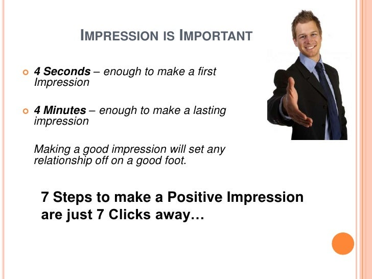 the power of first impressions essay