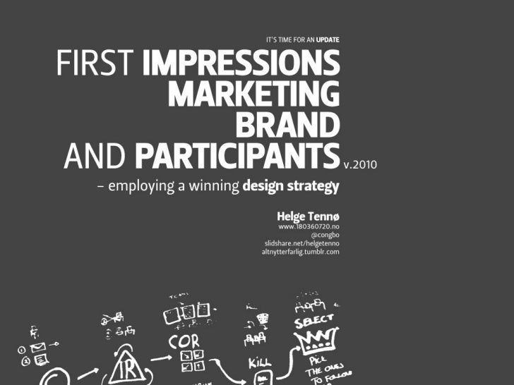 First impression marketing brand and participants 2010 update
