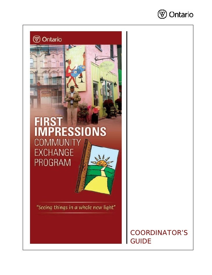 First Impressions Community Exchange Guide June 2007