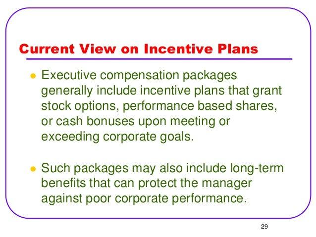 Benefits of executive stock options
