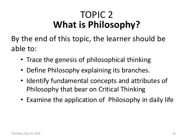 THINKING CRITICALLY ABOUT CRITICAL THINKING: A