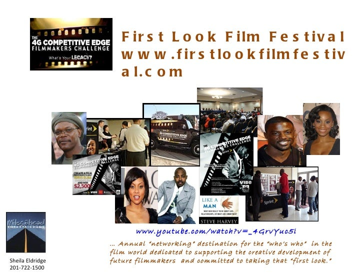 "First Look Film Festival www.firstlookfilmfestival.com …  Annual ""networking"" destination for the ""who's who""  in the film..."