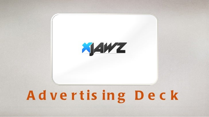 saturday Advertising Deck presentation