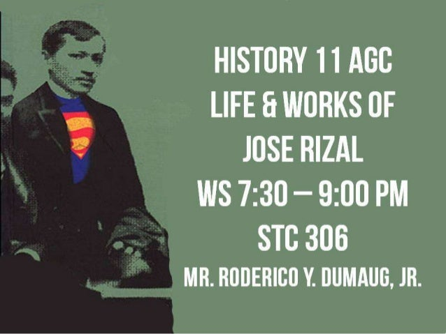 HISTORY 11 AGC: RIZAL -- FIRST MEETING