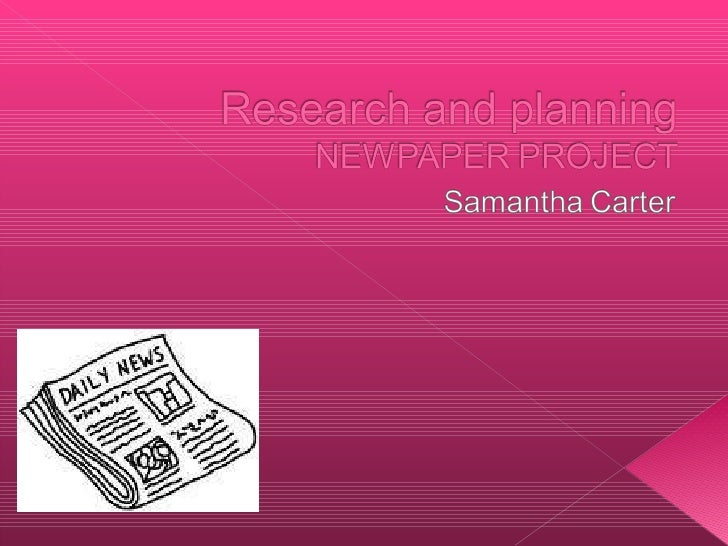 First presentation research and planning