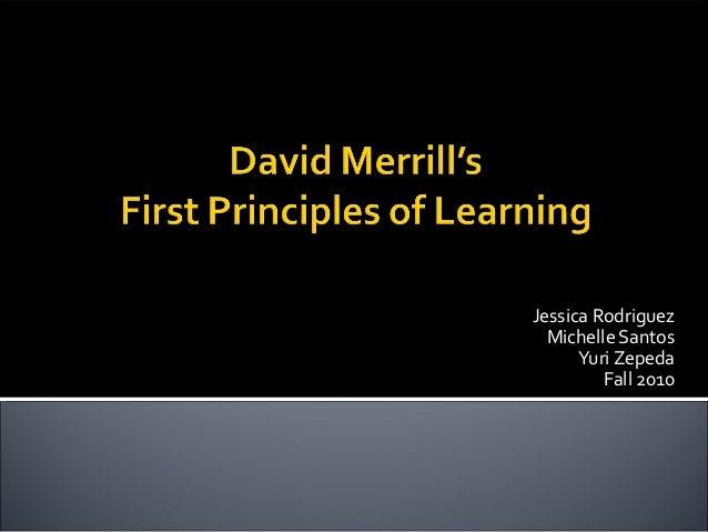 First Principles of Instruction- David Merrill