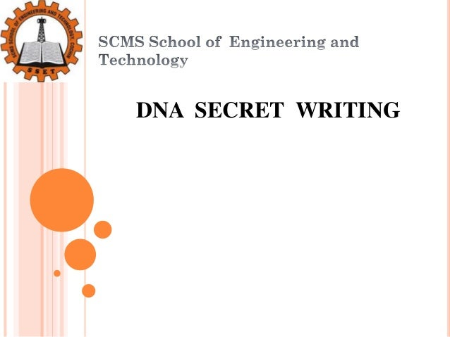 DNA SECRET WRITING