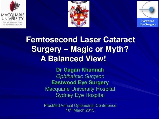 Femtosecond Laser Cataract Surgery – Magic or Myth?