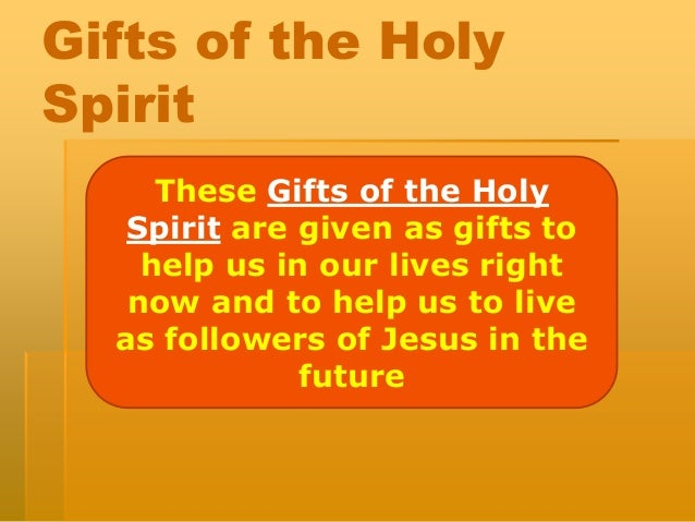 Fruits and gifts of the holy spirit lesson plans