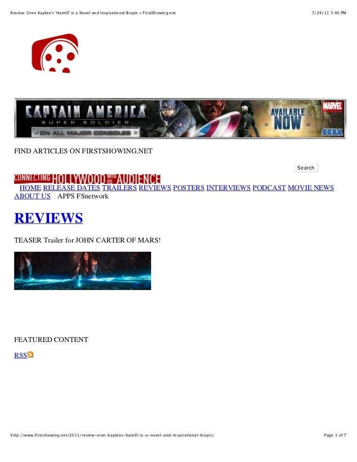 """Firstshowing.net review of """"The Hammer"""""""
