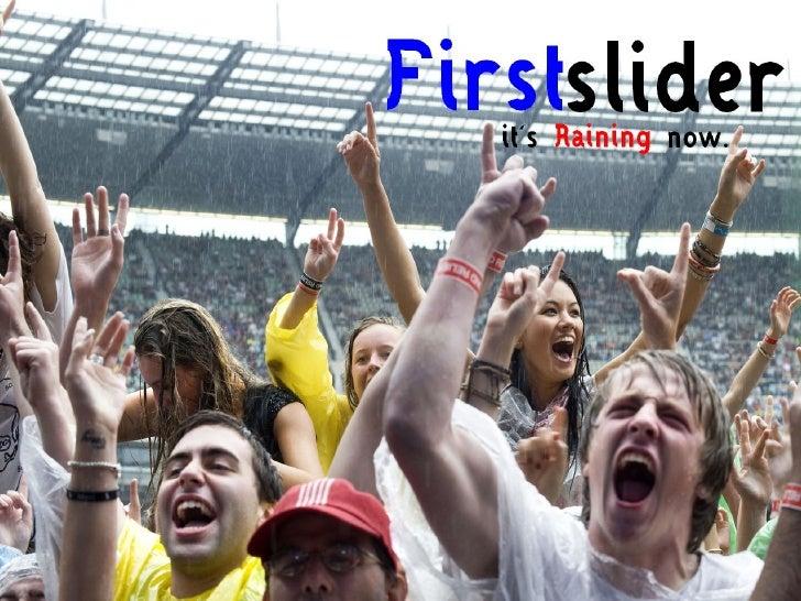 FirstSlider - Rain Powerpoint Template