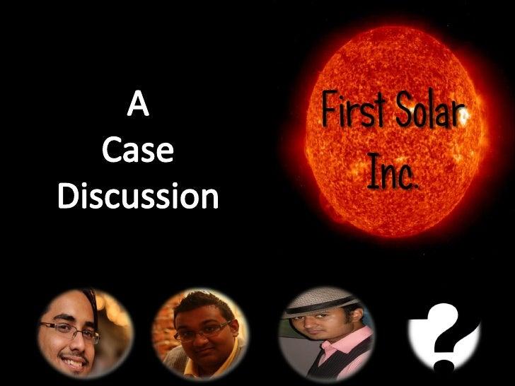 First Solar   Inc.