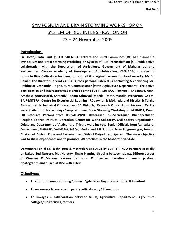 First State Symposium Maharastra