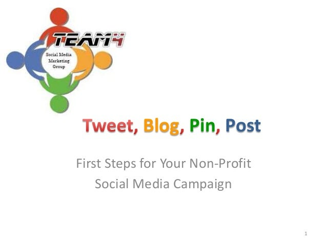 First steps for your non profit social media campaign