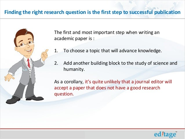 Is it important to have a research question when writing a research paper?