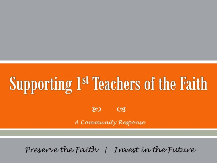 First Teachers of the Faith