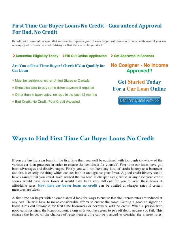 first time car buyer loans no credit best first time buyer auto loan. Black Bedroom Furniture Sets. Home Design Ideas