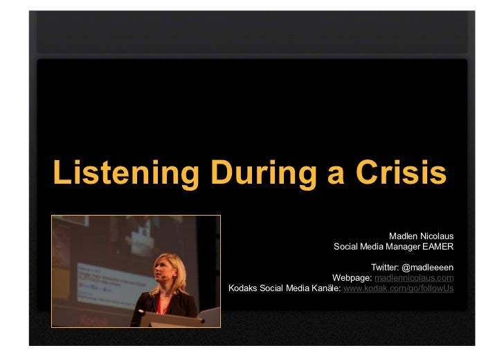Listening During a Crisis                                                Madlen Nicolaus                                  ...