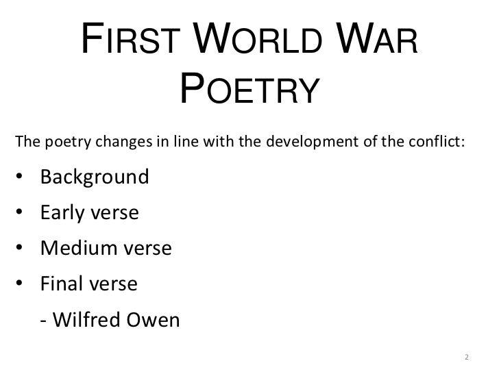 First world war poetry (con animaciones)