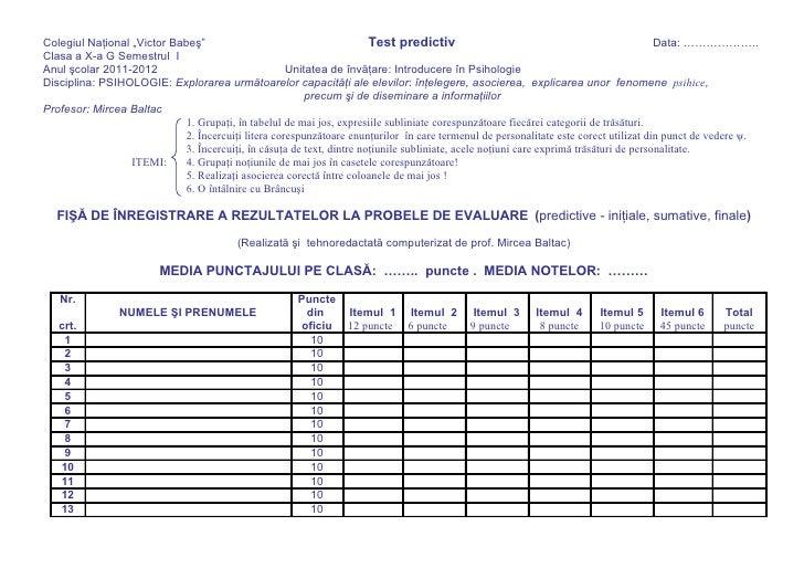 Fisa de inregistrare teste 2011 2012