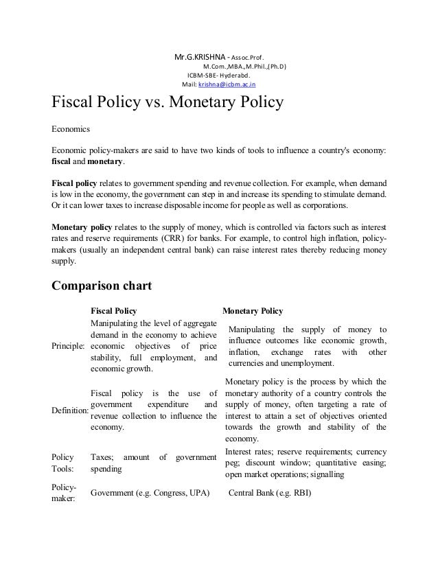 tools of fiscal policy pdf